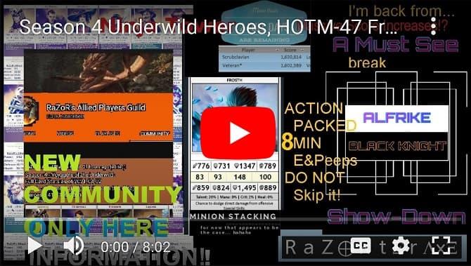 Underwild Season4, HOTM-47, Minion Stacking, 4th Ninja Tower Event, Alfrike-vs-BK:WAR