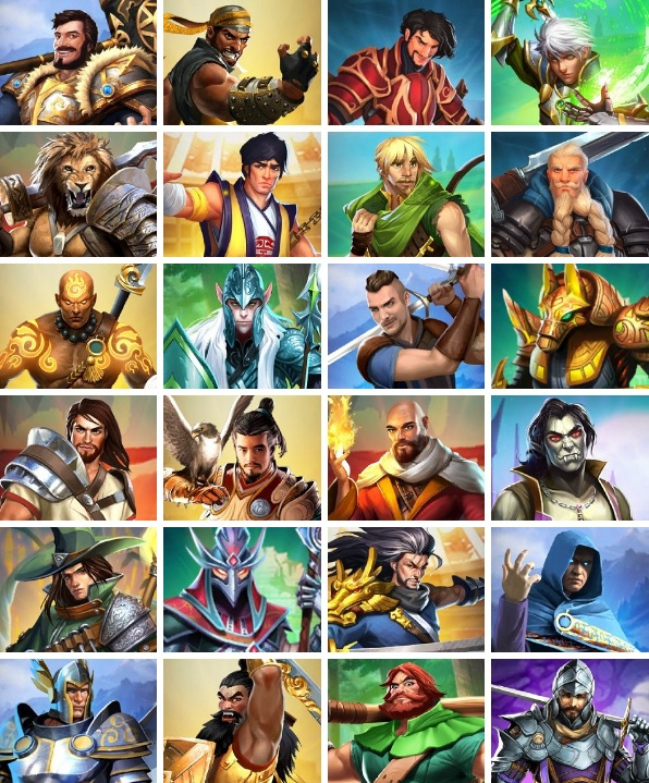 Empires & Puzzles 2018 MEN POOL TO PICK FROM