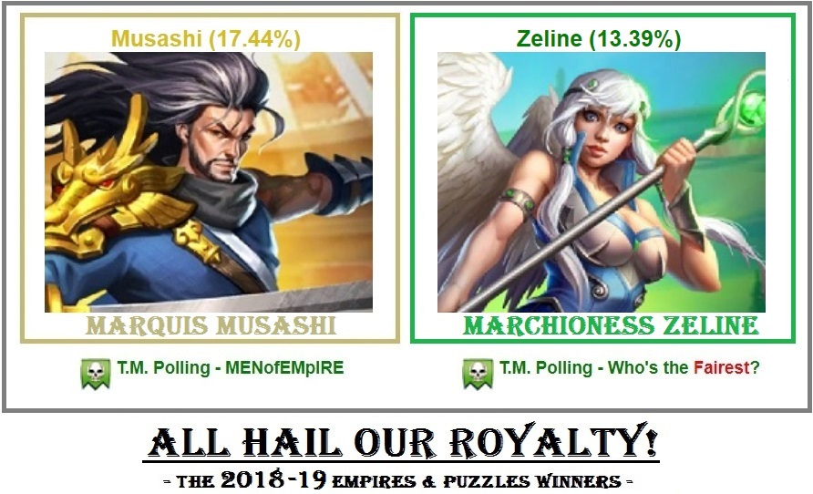 Empires & Puzzles 2018-19 ROYALTY MARQUIS & MARCHIONESS